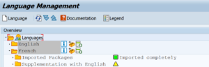 Language packs are the way to get SAP Standard screens translated.