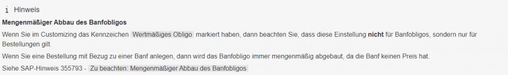 Banfobligo - BANF SAP