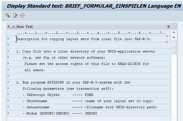 display standard text - SAP translation scoping