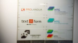 Prolangua und text&form in der Neuen Grünstraße 25
