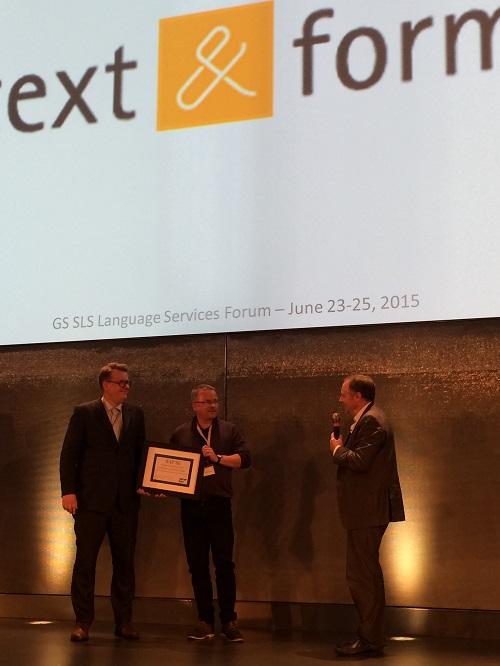 text&form ist SAP-Lieferant des Jahres